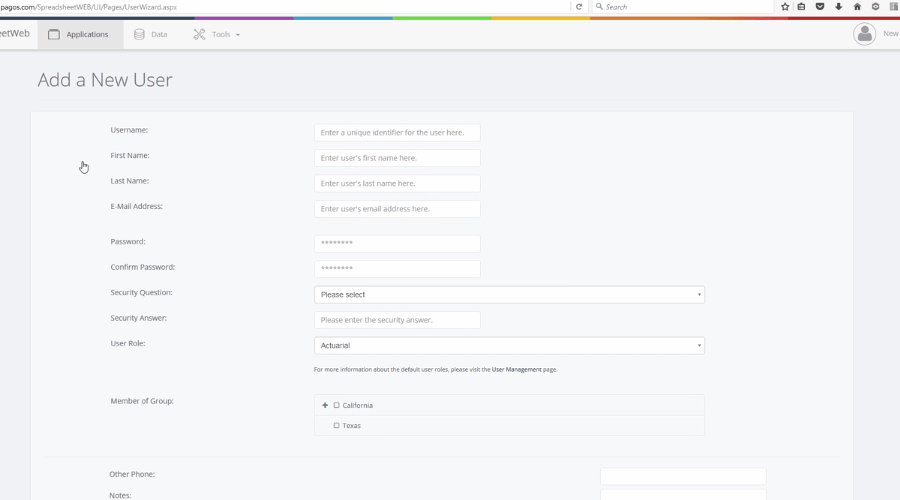 Create/Edit/Delete Users