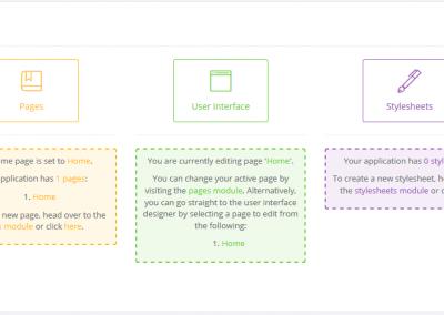 User Interface in Designer