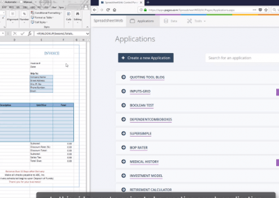 Creating a Web Application from an Excel Invoice