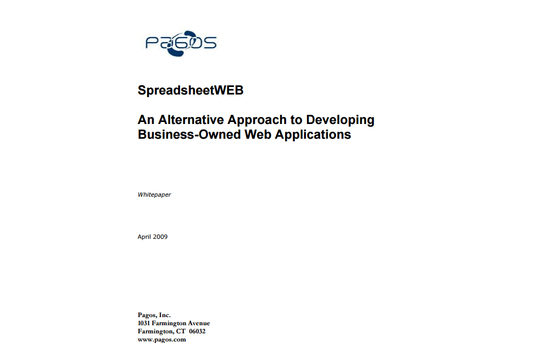 An Alternative Approach to Developing Business-Owned Web Applications