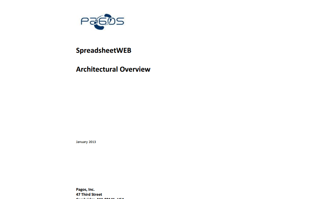 SpreadsheetWEB Architectural Overview