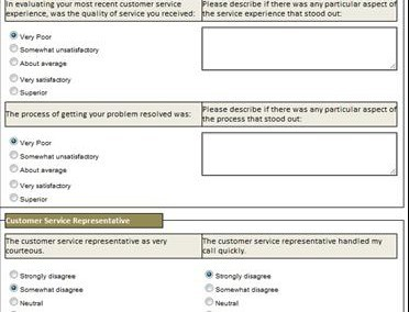 Service Quality Evaluation Form