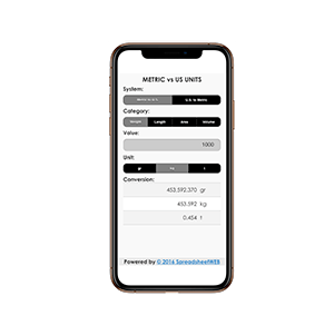 Unit Converter – Mobile Enabled