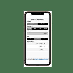 Unit Converter – Mobile Enabled