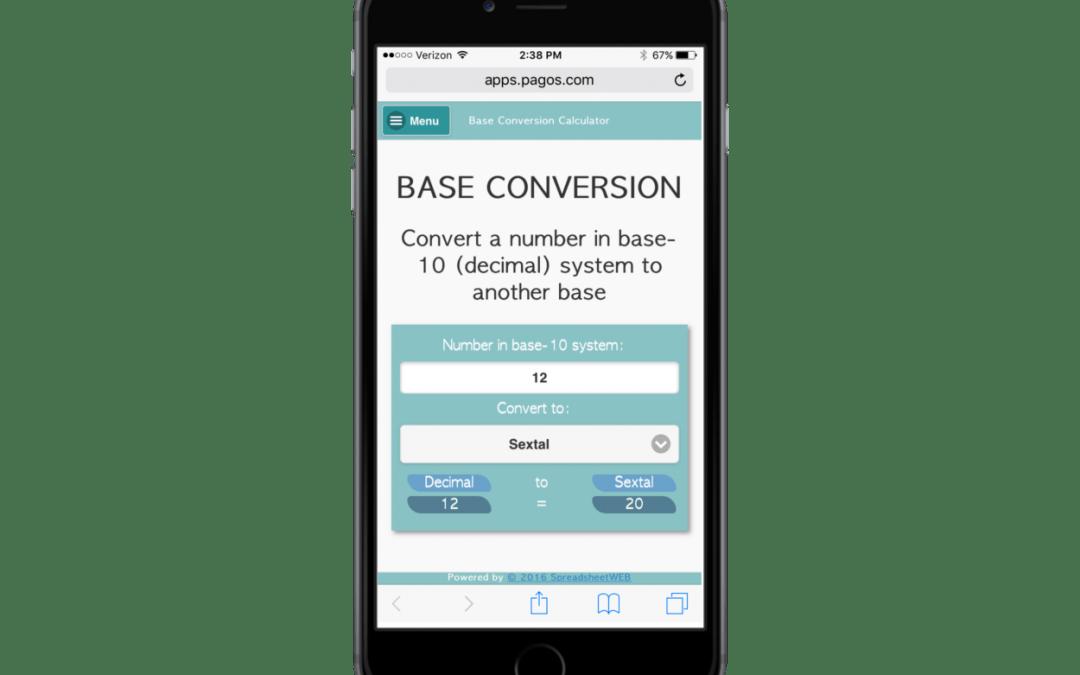 Base Conversion – Mobile Enabled