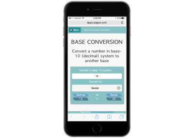 Base Conversion – Mobile Enabled