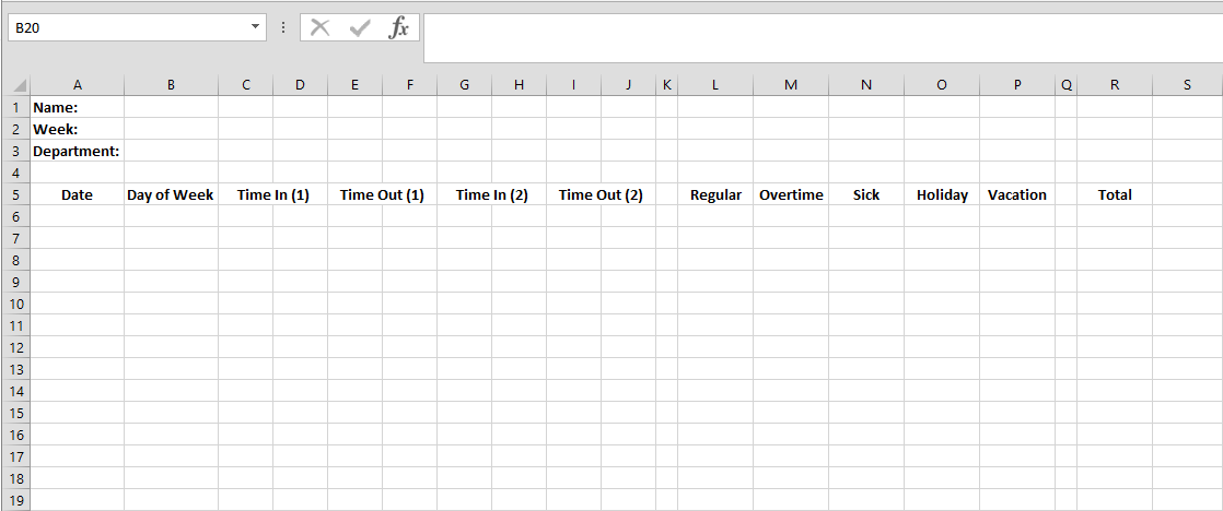 create your own custom time cards in excel a how to guide