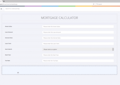 Creating a Mortgage Calculator with the Designer