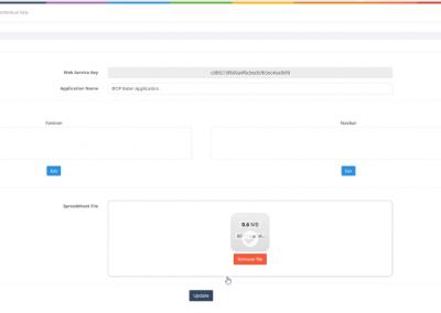 Editing Application Settings in Designer