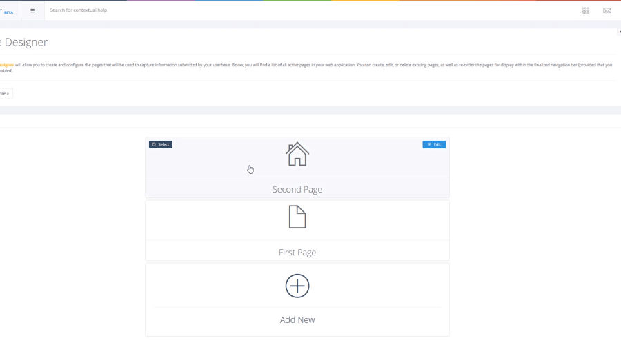 Pages in Designer