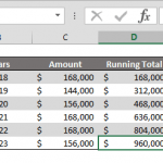 How to calculate running totals with SUM