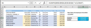 How to SUM values if date is greater than