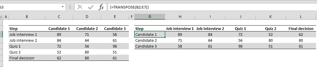 How to transpose the rows and columns of a data table