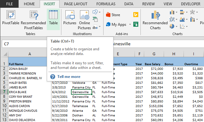 hot to combine data from multiple sheets using power query begin by converting your data into excel tables by clicking insert  table  or pressing ctrl  t excel automatically detects the entire table range if