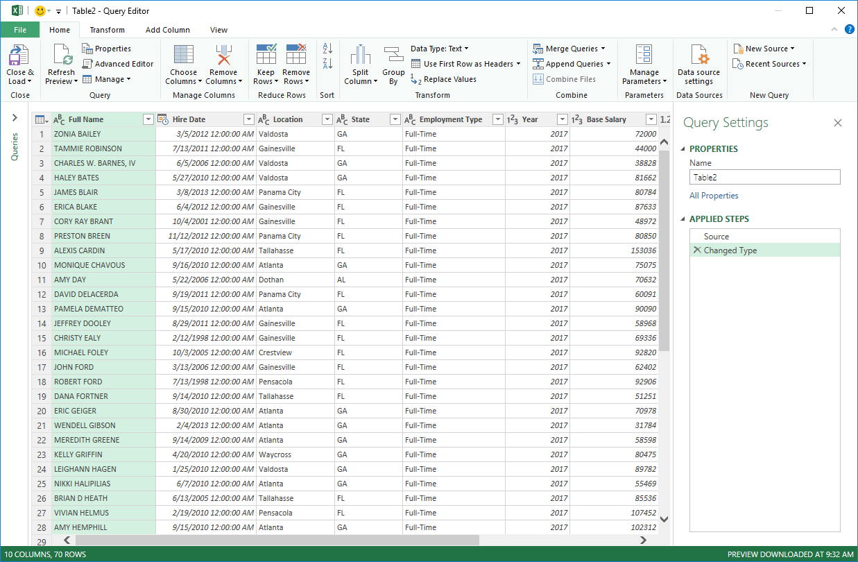Worksheets Combine Data From Multiple Worksheets hot to combine data from multiple sheets using power query window will pop up with your table this is the main page of where you can manage data