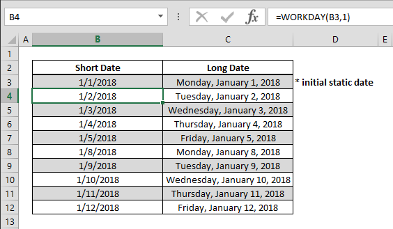 How to create a calendar that only contain workdays