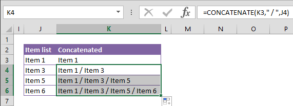 Transforming Data with CONCATENATE function in Excel