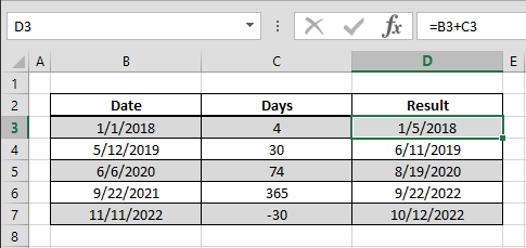 How to use day information from date data in Excel