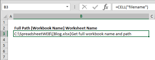 How to get the worksheet name, workbook name, and its path