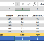 How to rank data in Excel tables