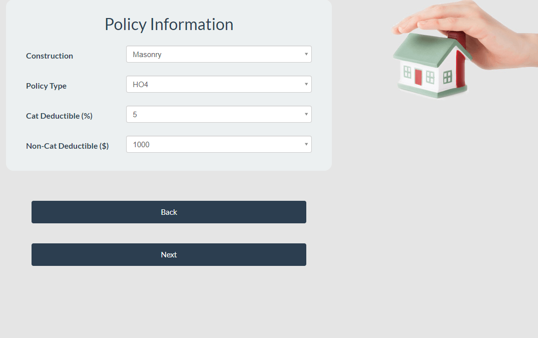Homeowners Insurance Quoting Tool