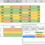 How to highlight cells by values