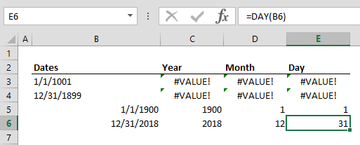 Known Formula Issues in Excel2