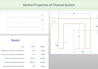 Section Properties Calculator – Channel Section