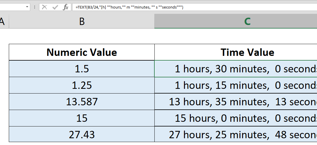 How to convert a number to time units