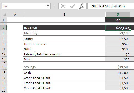 Basic Excel Formulas to Do Your Personal Finances Using Excel