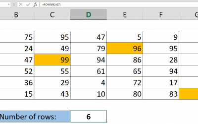 How to get number of rows