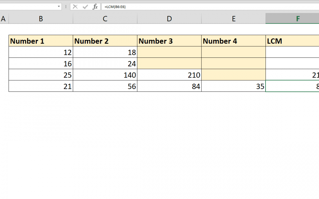 How to calculate Least Common Multiple