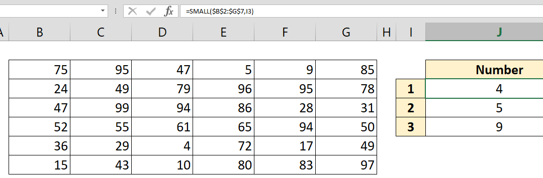 How to find nth smallest value in a data table