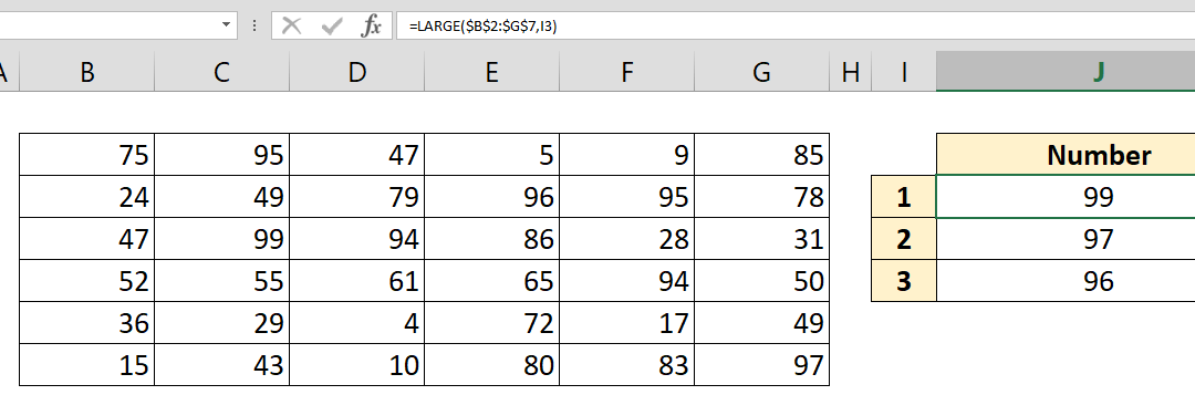 How to find nth largest value in a data table