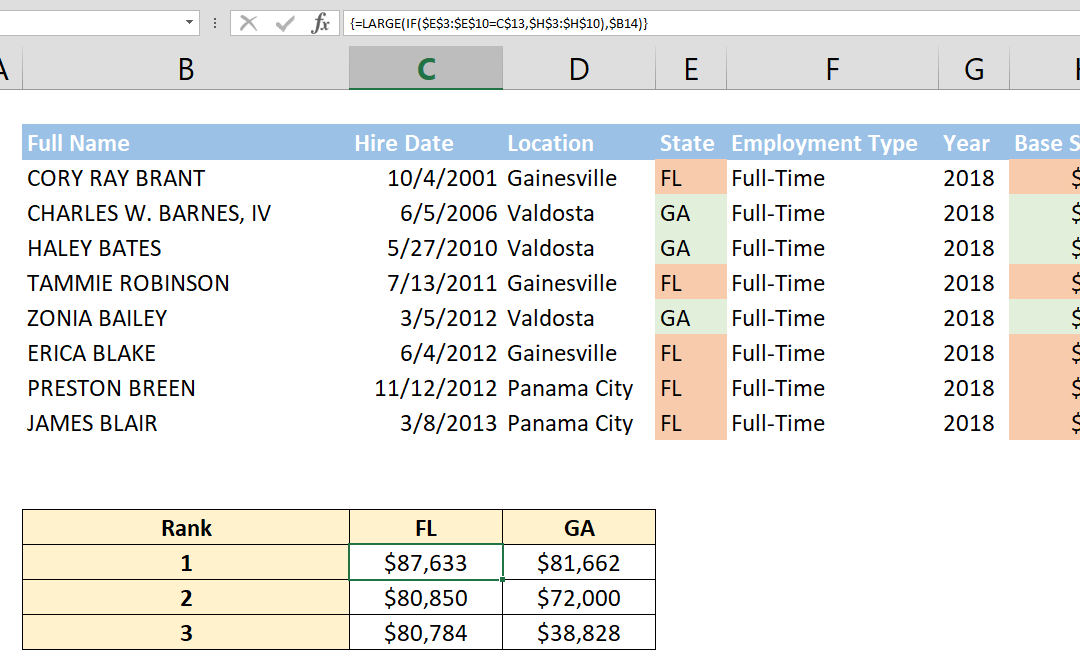 How to find largest value in array using a criteria