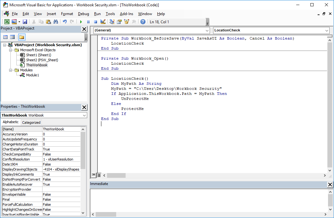 how to protect a file in excel