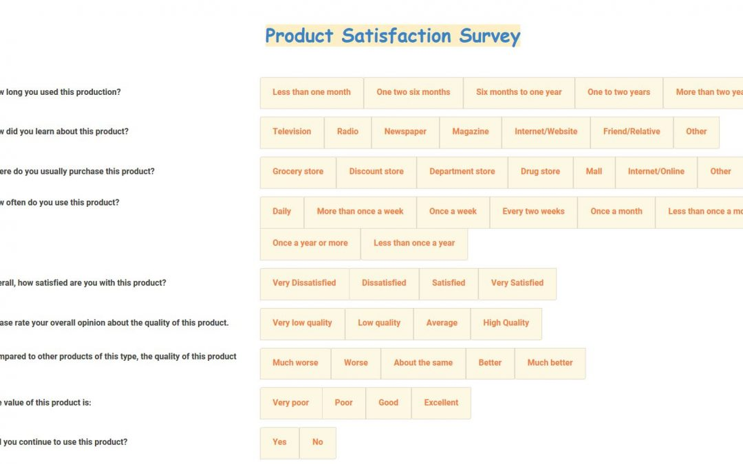 Product Satisfaction Survey