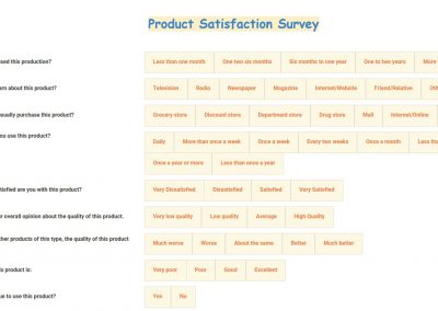 Product Satisfaction Survey