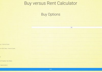 Buy vs. Rent Calculator