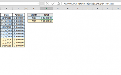 How to create a year-by-year summation calculator