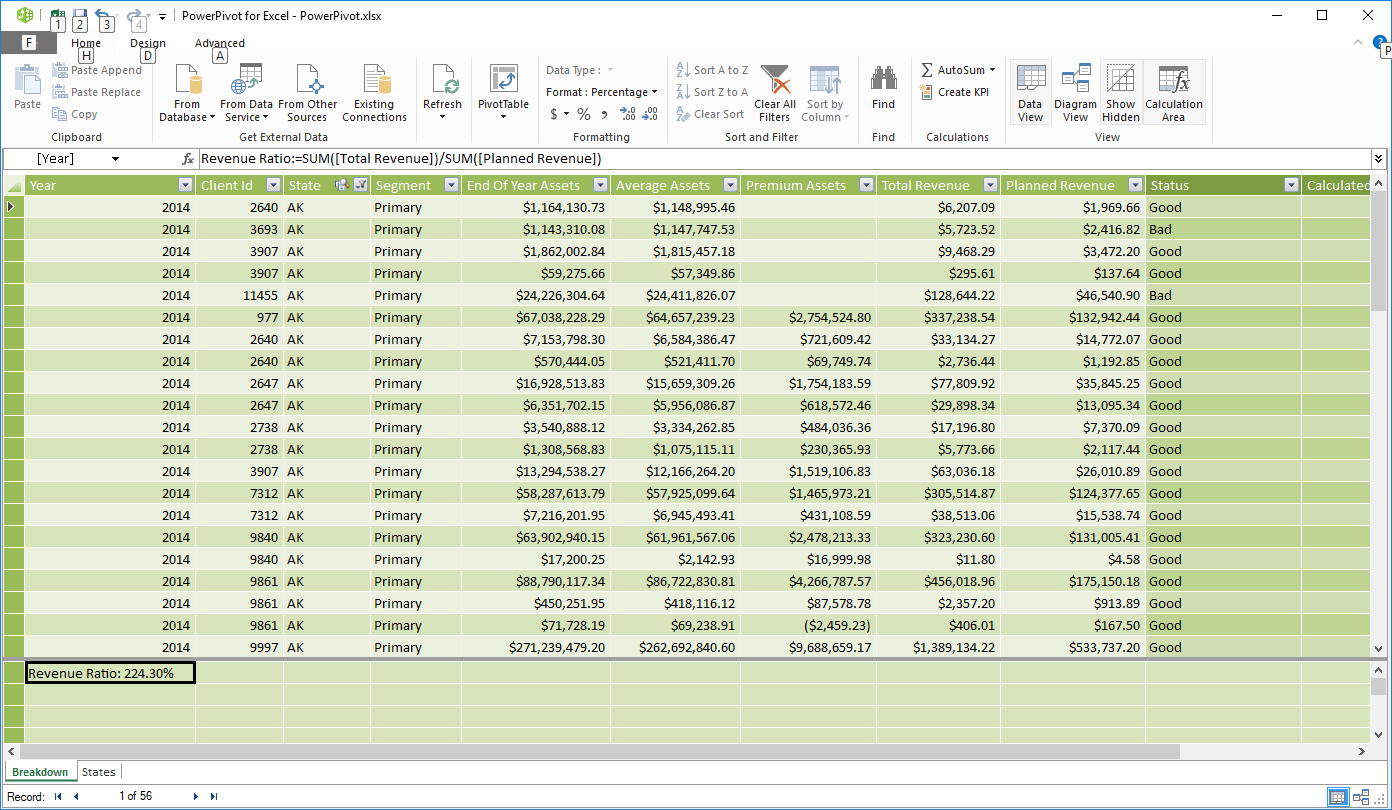 How to use DAX Functions in Pivot Tables