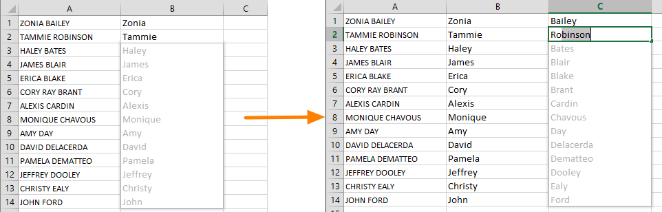 Create Tables and Manipulate Data in an Instant with Excel Flash Fill