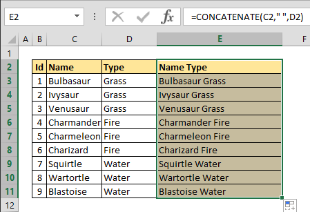 How to merge cells in excel without losing data