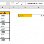 How to calculate mean in Excel