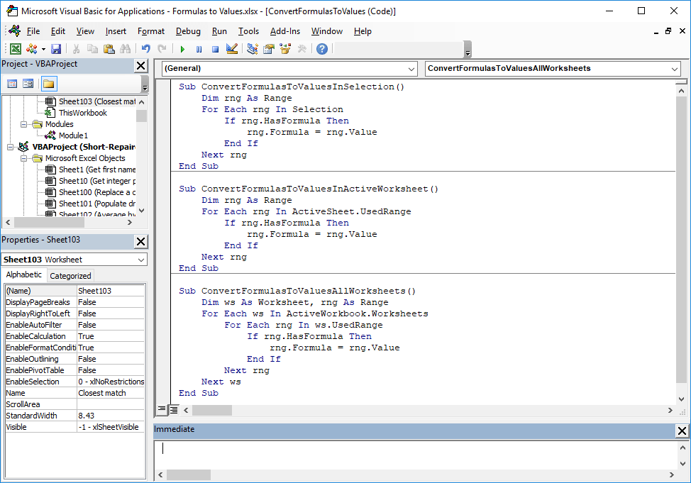 How-to-convert-s-to-values-with-VBA Vba Worksheet Protect Method on