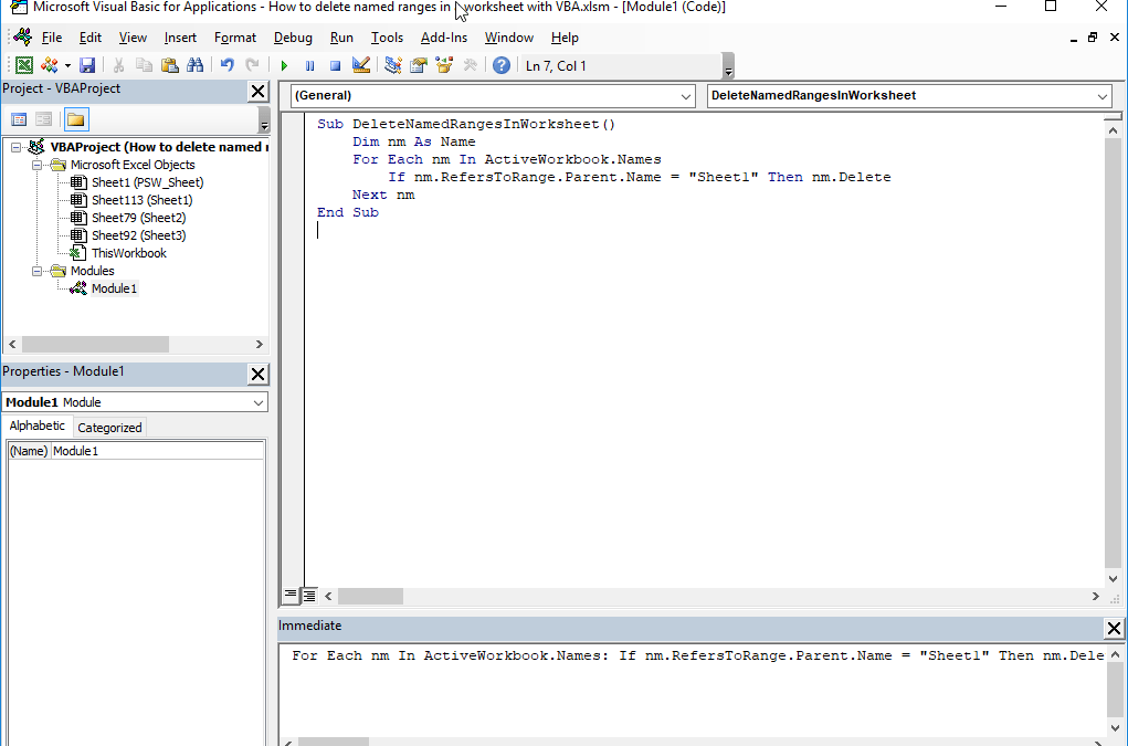 How to delete named range Excel using VBA and doing this ...