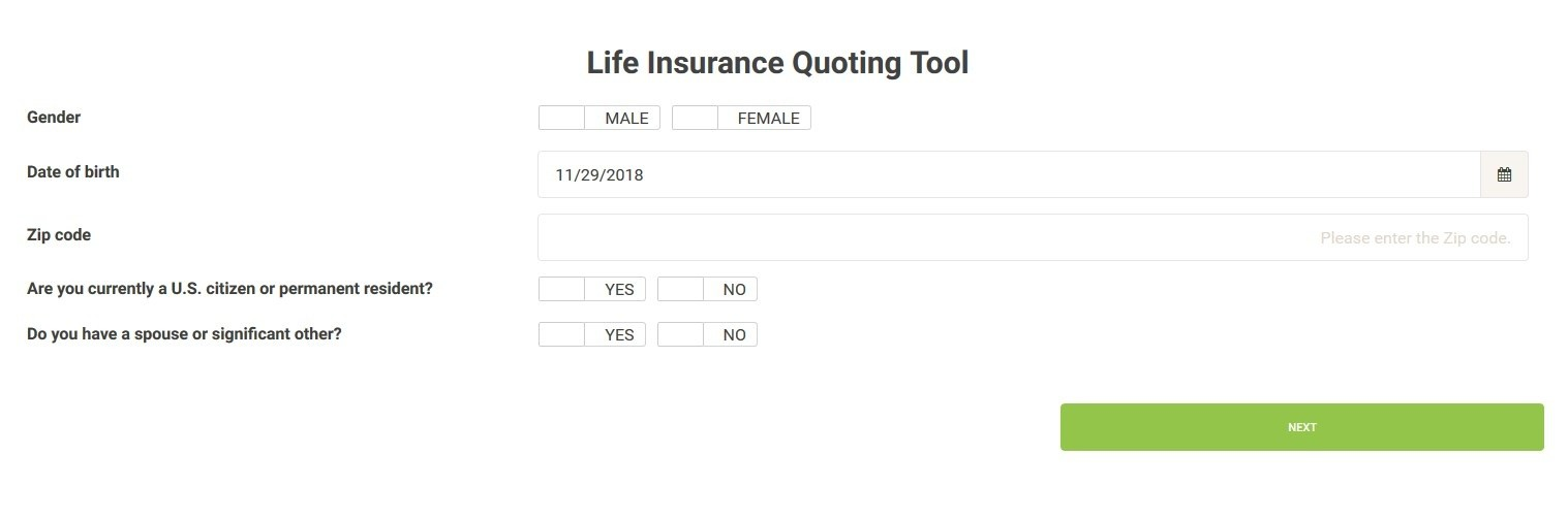 Life-Insurance-Quoting-Software-with-SpreadsheetWeb-Page-1