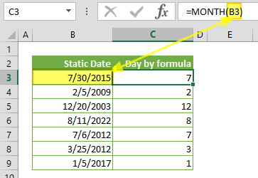 Function: MONTH