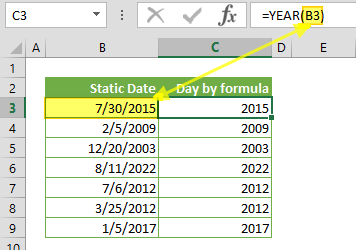 Function: YEAR