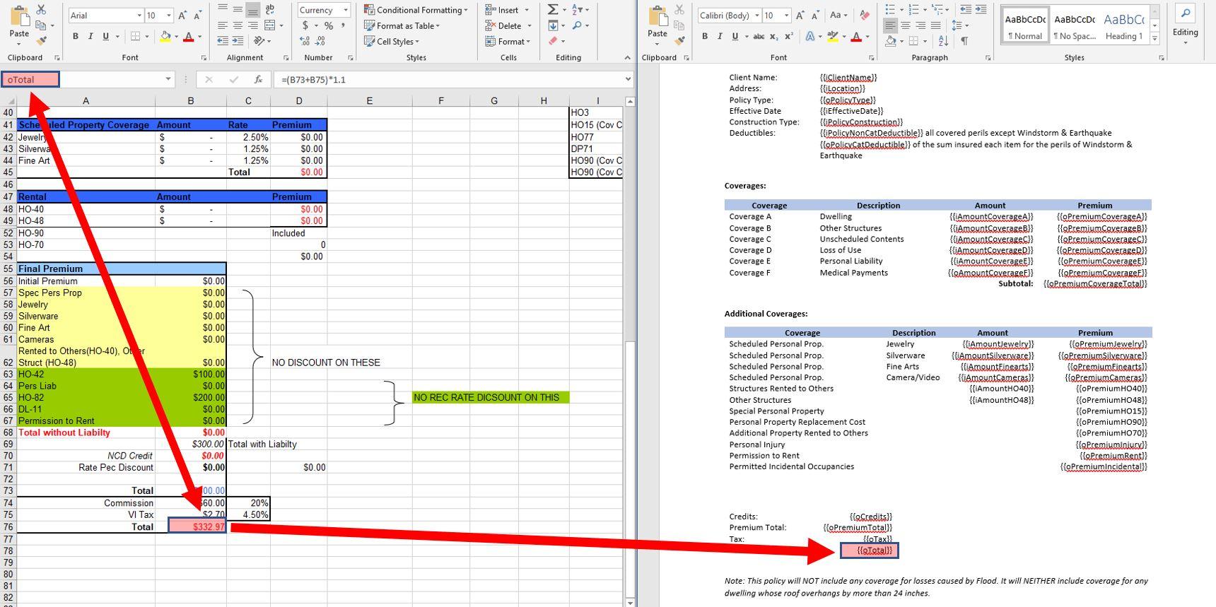 Designer Print Process-Excel-Word
